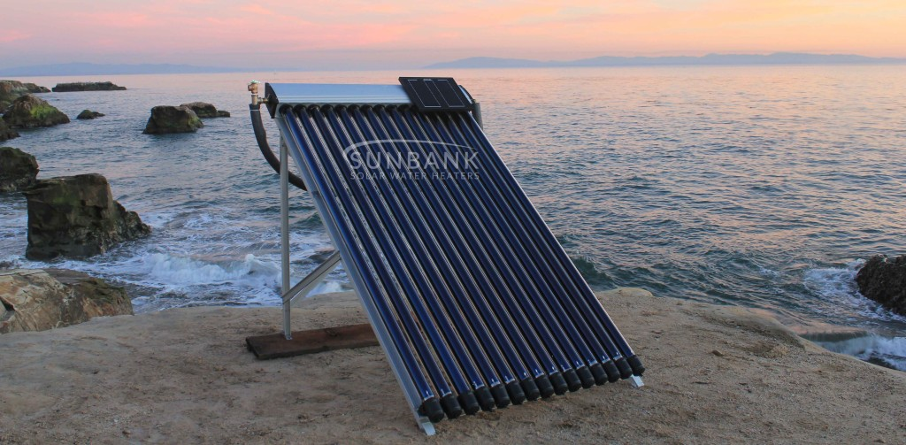 the evacuated tube solar hot tub kit on the coast in santa cruz california