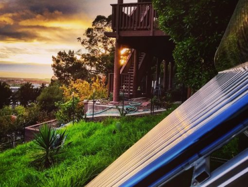 Solar water heater at Sunset, the Sunbank SB80G