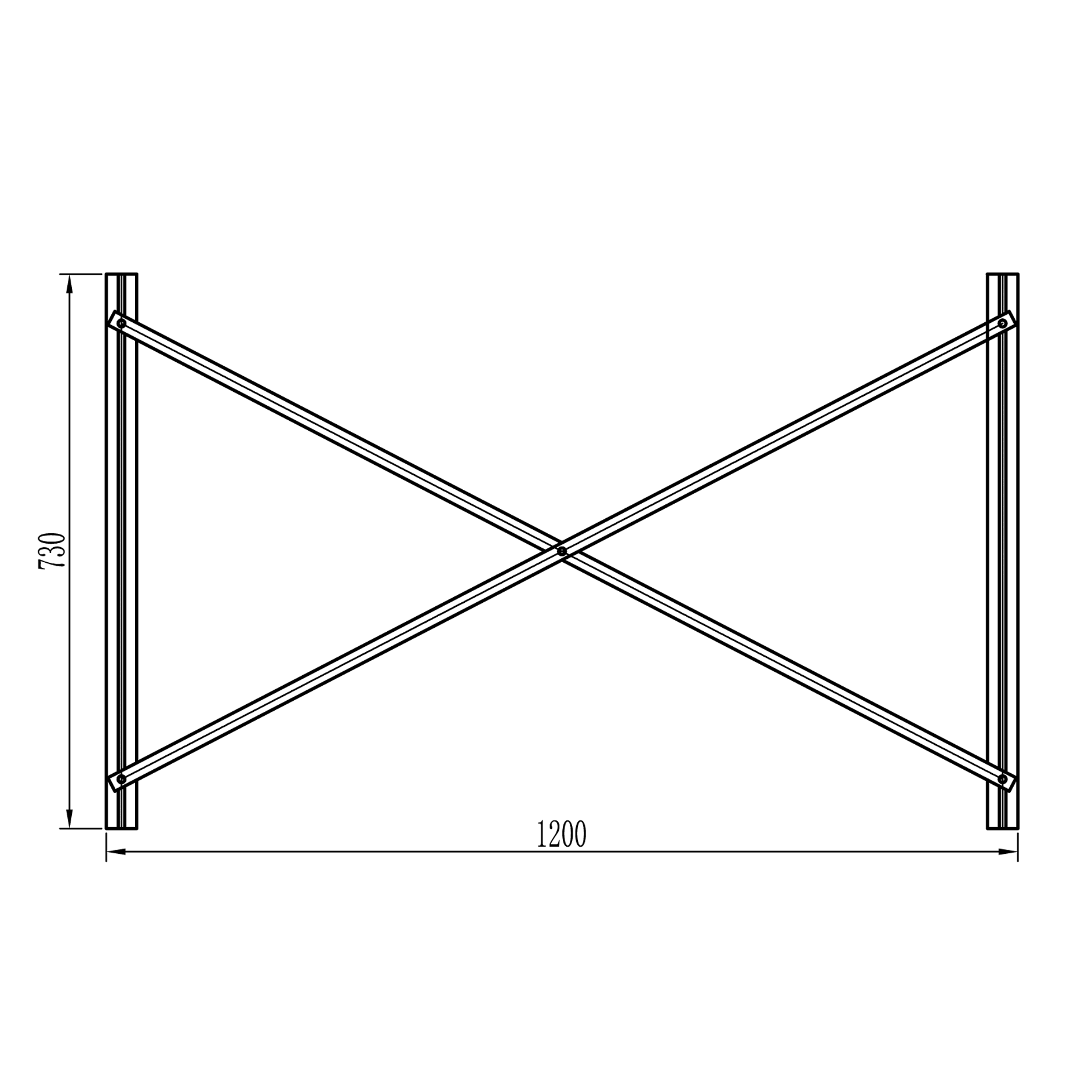 frame for flat plate collector from behind